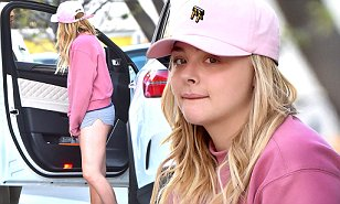 Chloe Moretz steps out in hot pants and Kanye West's Yeezy ...
