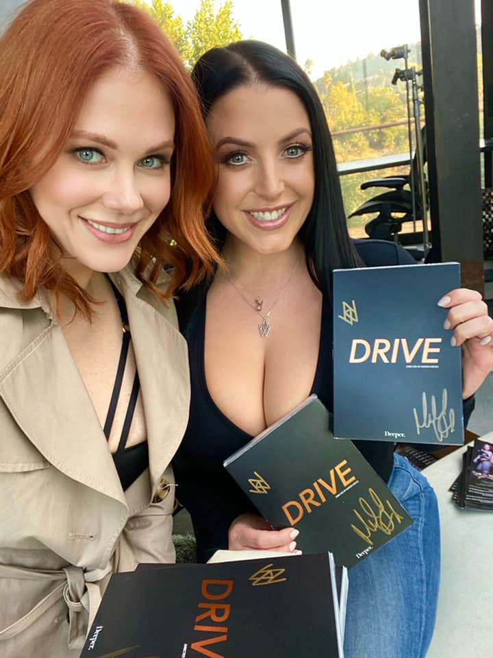 Me & Angela White today signing copies of 'Drive'!