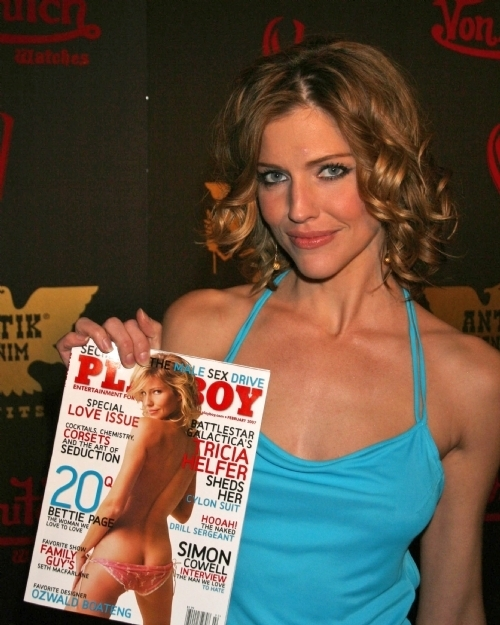 Tricia Helfer Cover of February's Playboy Magazine Party