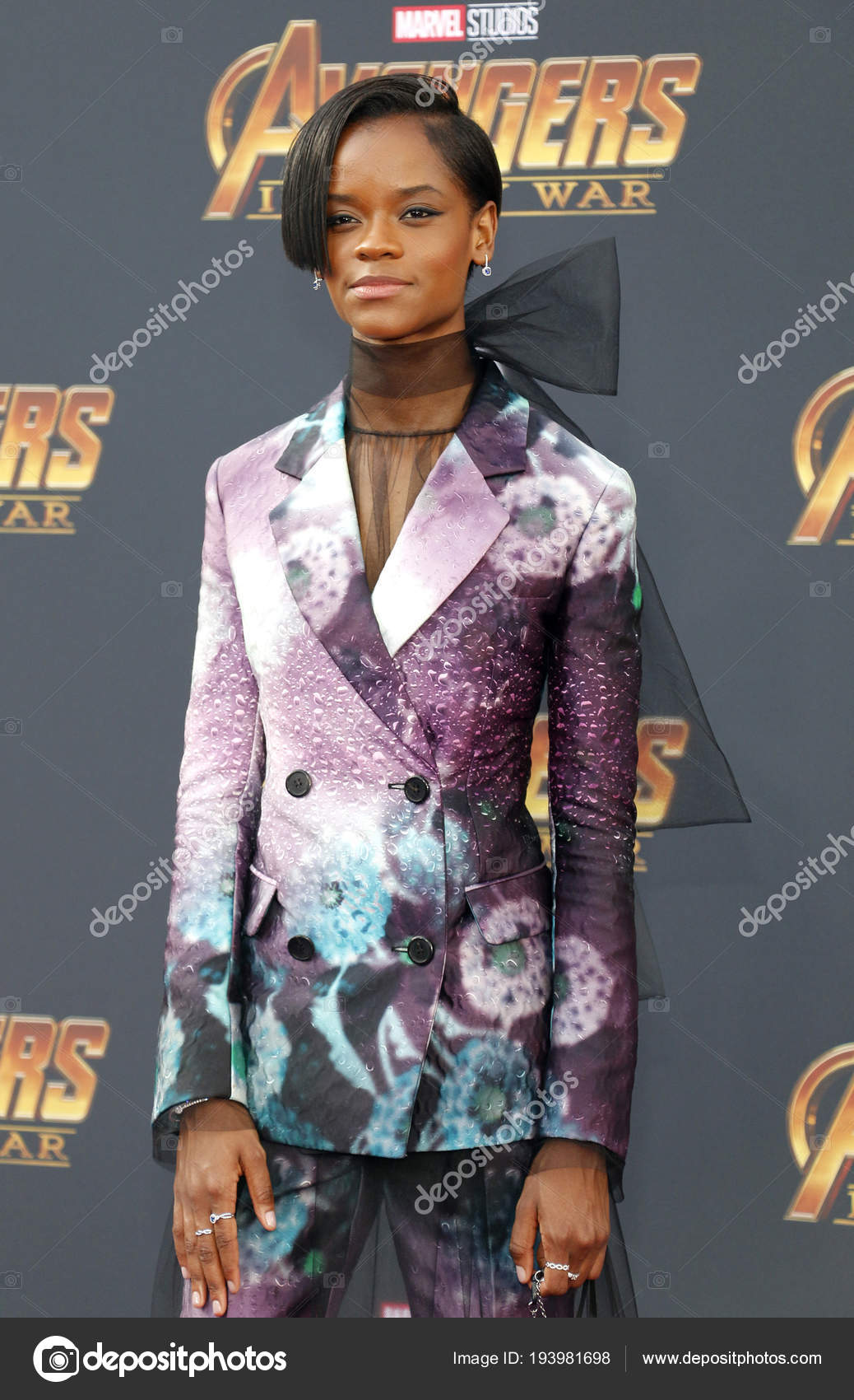 Actress Letitia Wright Premiere Disney Marvel Avengers Infinity ...