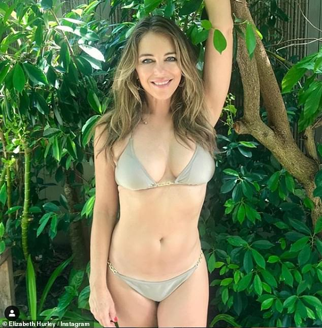 Elizabeth Hurley, 54, shows off her incredible physique in a ...