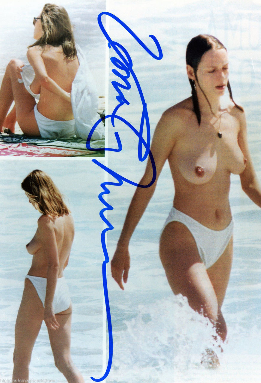 UMA THURMAN NUDE TOPLESS BREASTS AUTOGRAPHED SIGNED 8X10 WET & WILD