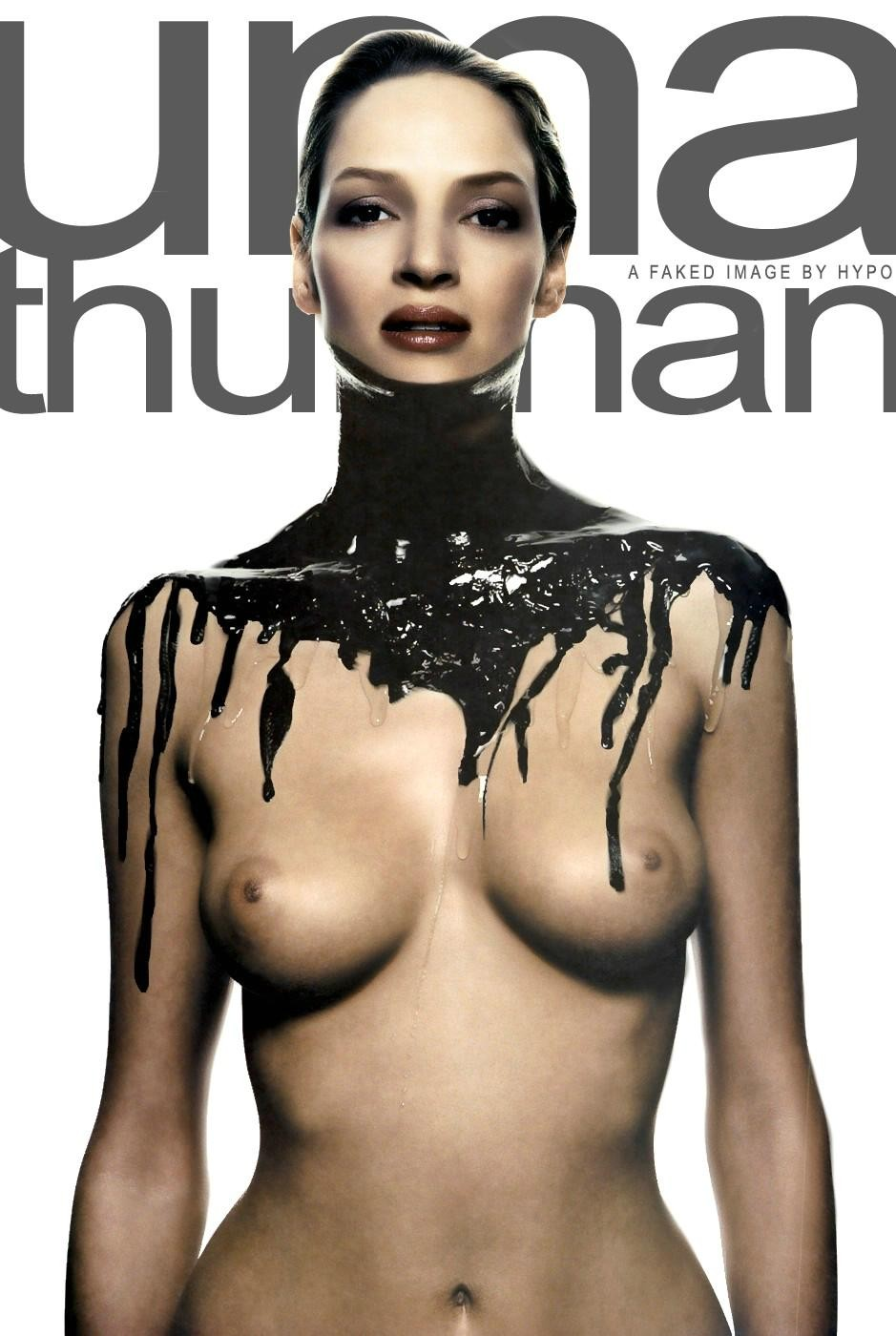 Uma Thurman naked and getting hot in these pics - Pichunter