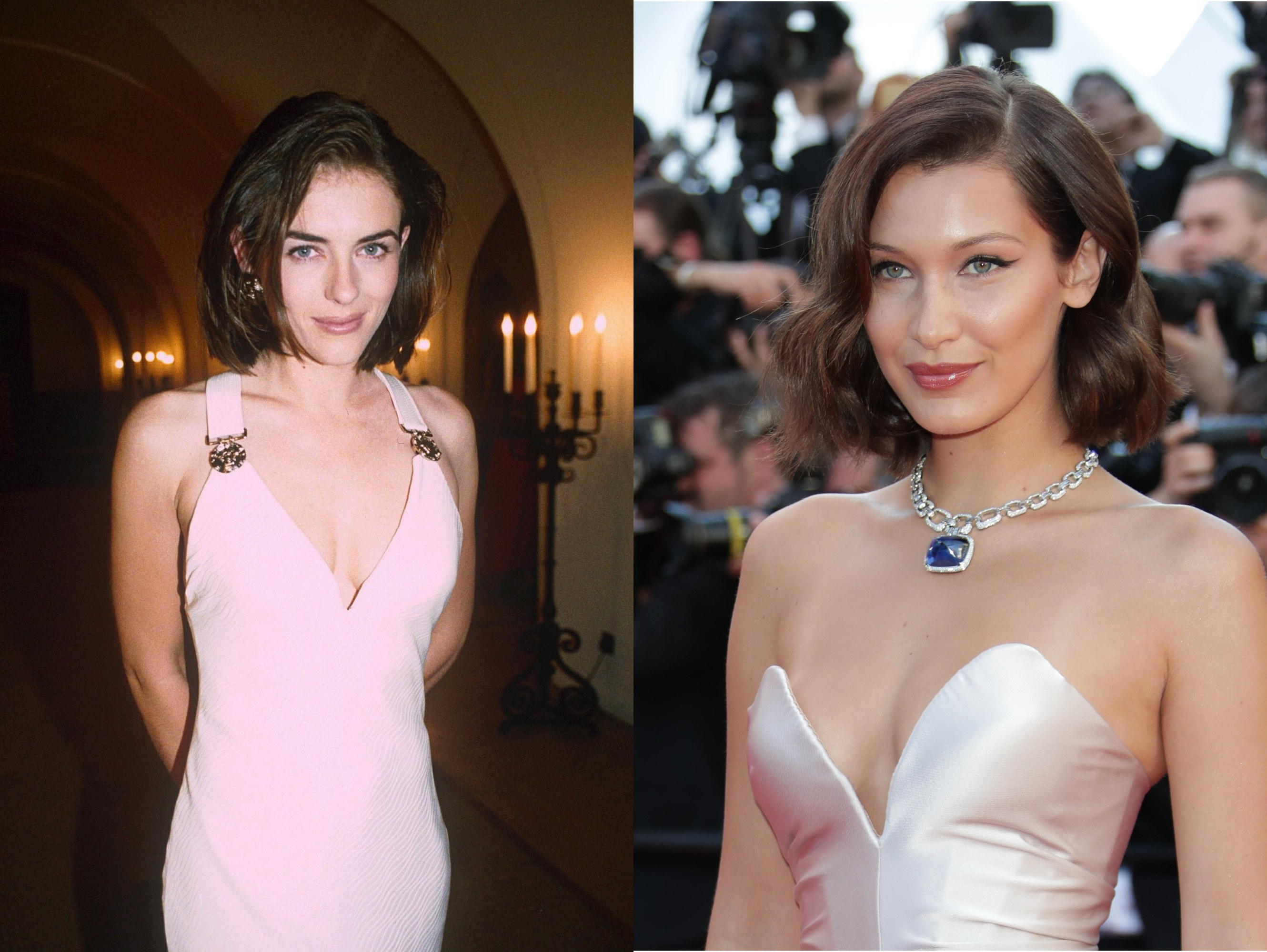 6 Times Bella Hadid and a Young Elizabeth Hurley Were Twins ...