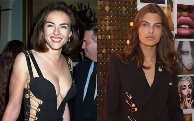 Liz Hurley's son Damien recreates her iconic safety pin look ...