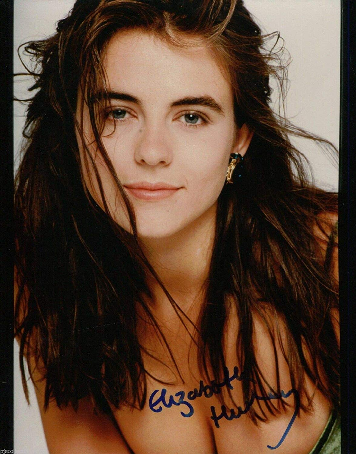 Elizabeth Hurley Signed Gorgeous Young In Your Face 8x10 ...