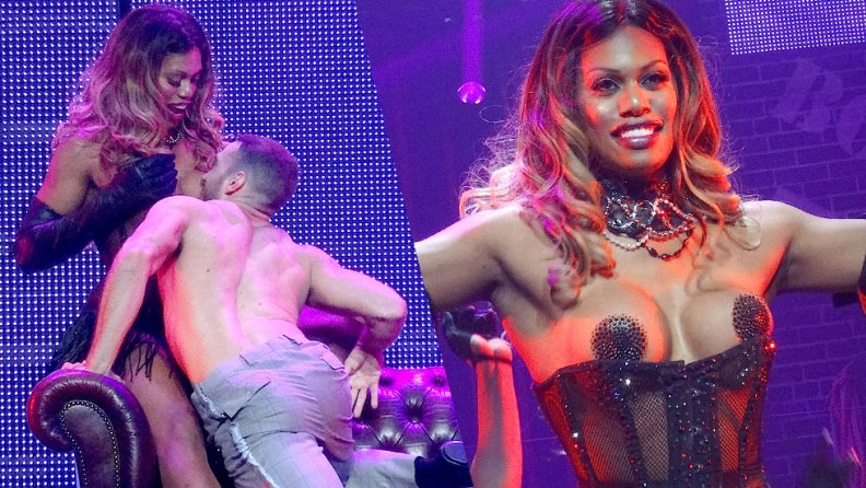 Laverne Cox Puts On Pasties For Broadway Bares Charity Event ...
