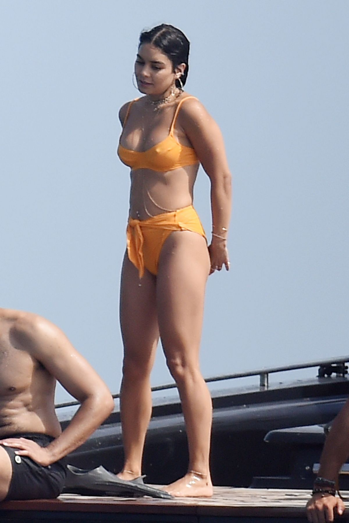 VANESSA HUDGENS in Bikini at a Yacht with Nathalie Emmanuel ...
