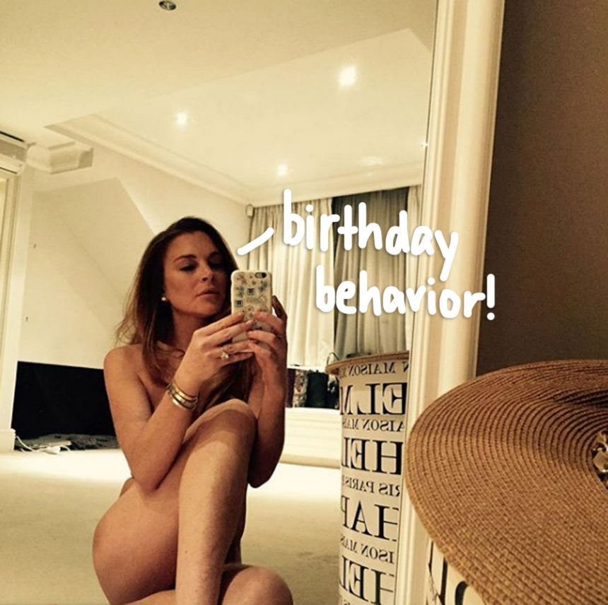 Lindsay Lohan Celebrates Turning 33 With A Sexy Selfie In ...