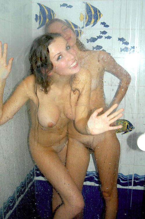 Girl and her Anna Kendrick look alike friend in the shower ...