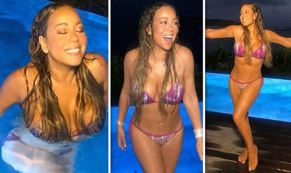 Mariah Carey flaunts incredible figure as she strips off in ...