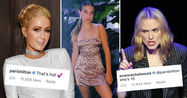 Evan Rachel Wood responds as Paris Hilton calls Millie Bobby ...