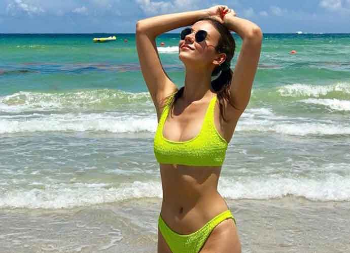 Victoria Justice Stuns In Lime Green Bikini At Hollywood, Florida Beach