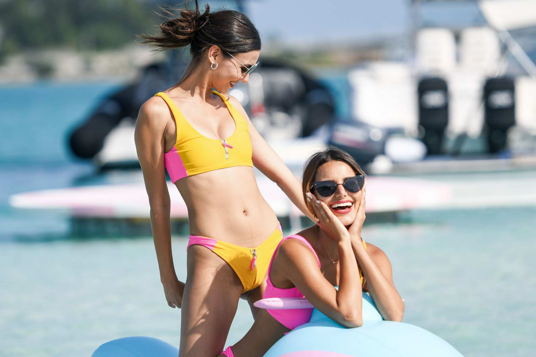 victoria justice and madison reed spotted in bikini during ...