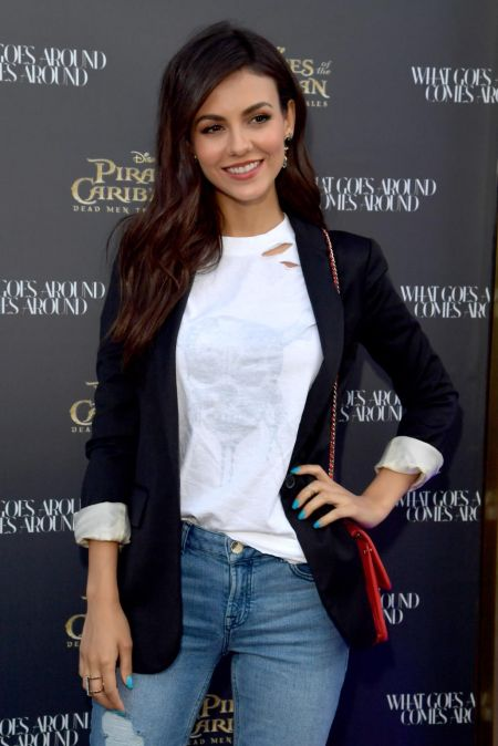 Victoria Justice steps out in style to celebrate the highly ...