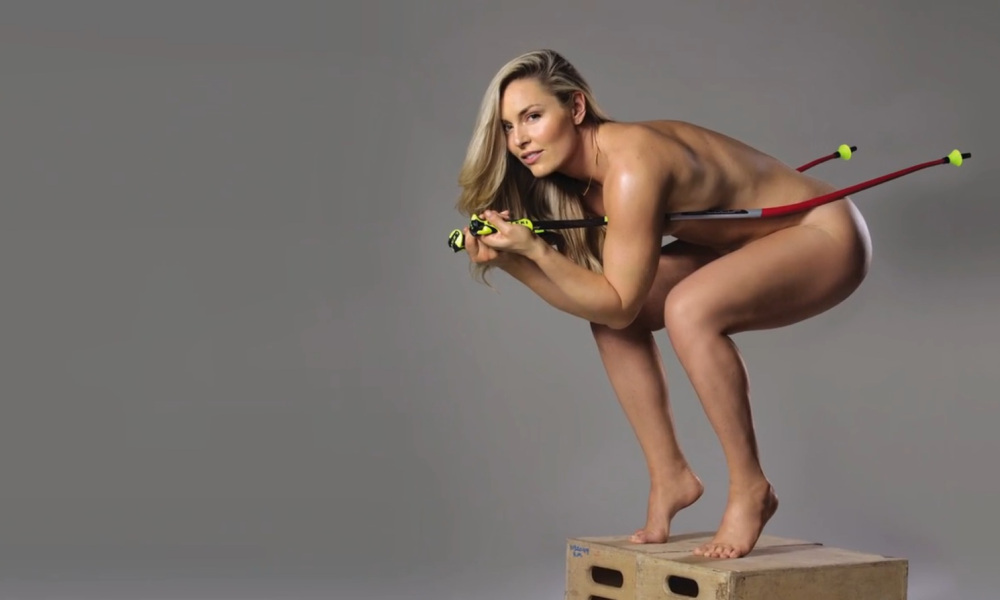 Remembering: Lindsey Vonn Poses Nude With Nothing But Ski ...