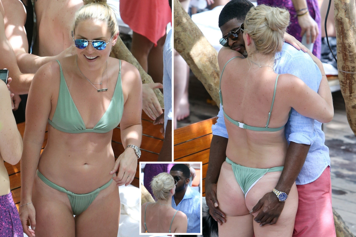 Lindsey Vonn's boyfriend fondles her bum as Tiger Woods' ex ...