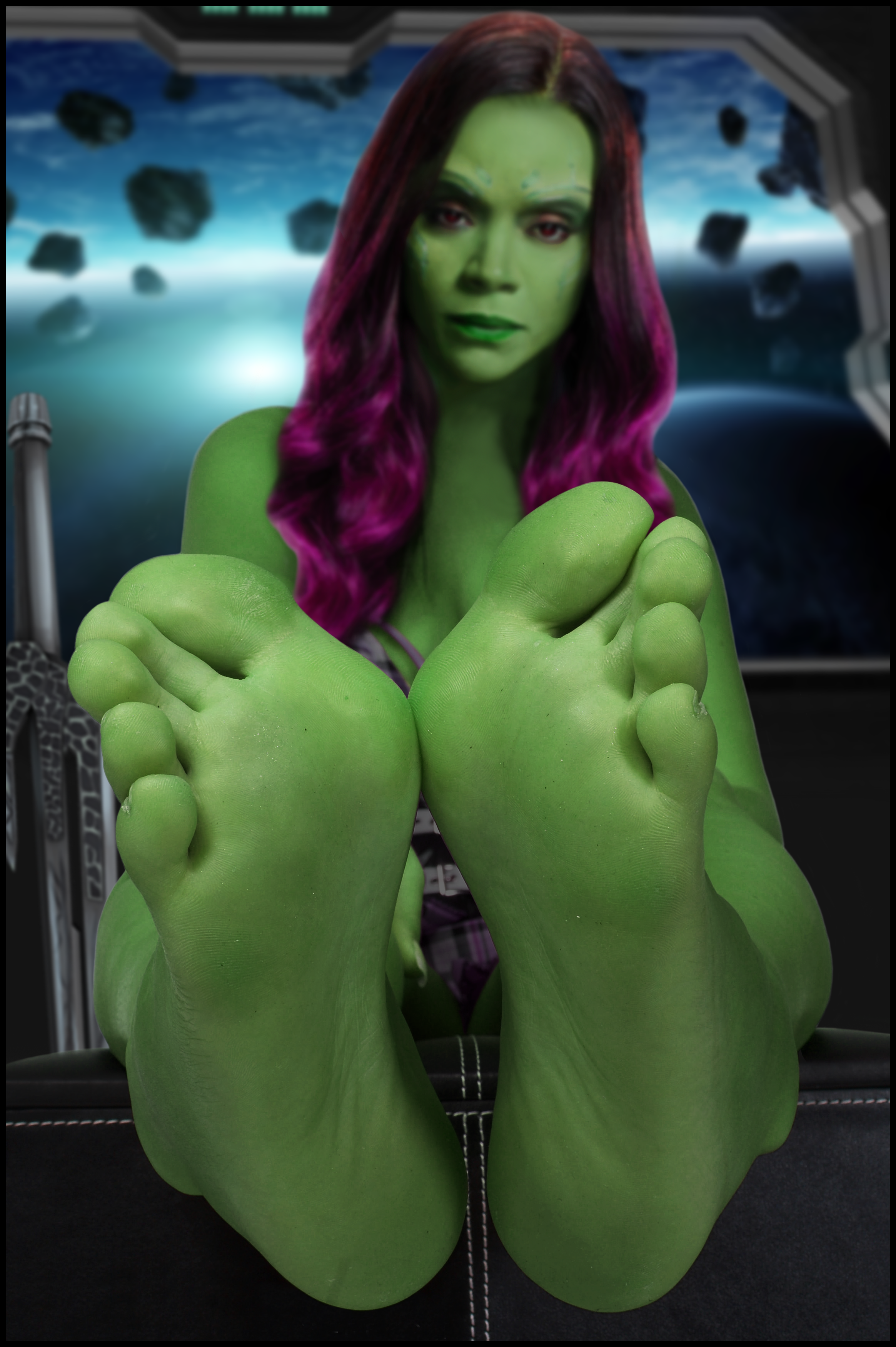 Gamora Feet (Zoe Saldana) by devillisimo666 on DeviantArt