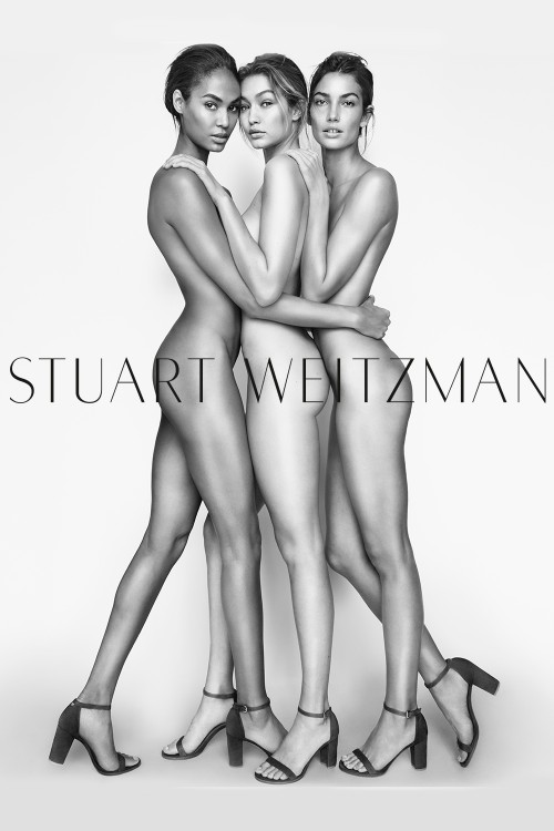 GIGI, JOAN AND LILY ALDRIDGE POSE NUDE FOR STUART WEITZMAN ...