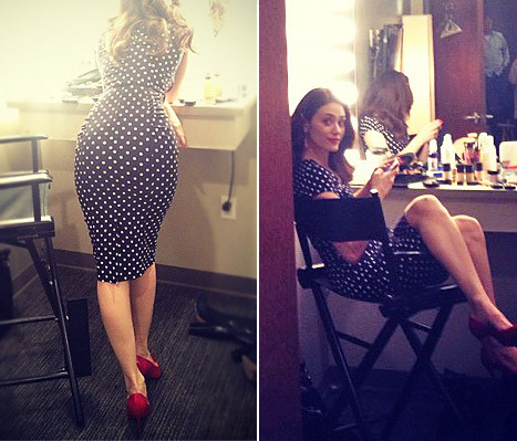 Emmy Rossum Shows Her Butt in Sassy Post on Instagram - Us ...