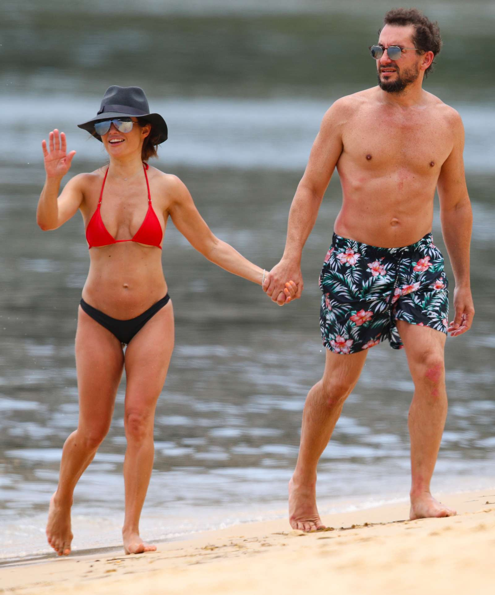 Ada Nicodemou in Black and Red Bikini 2019 -08 | GotCeleb