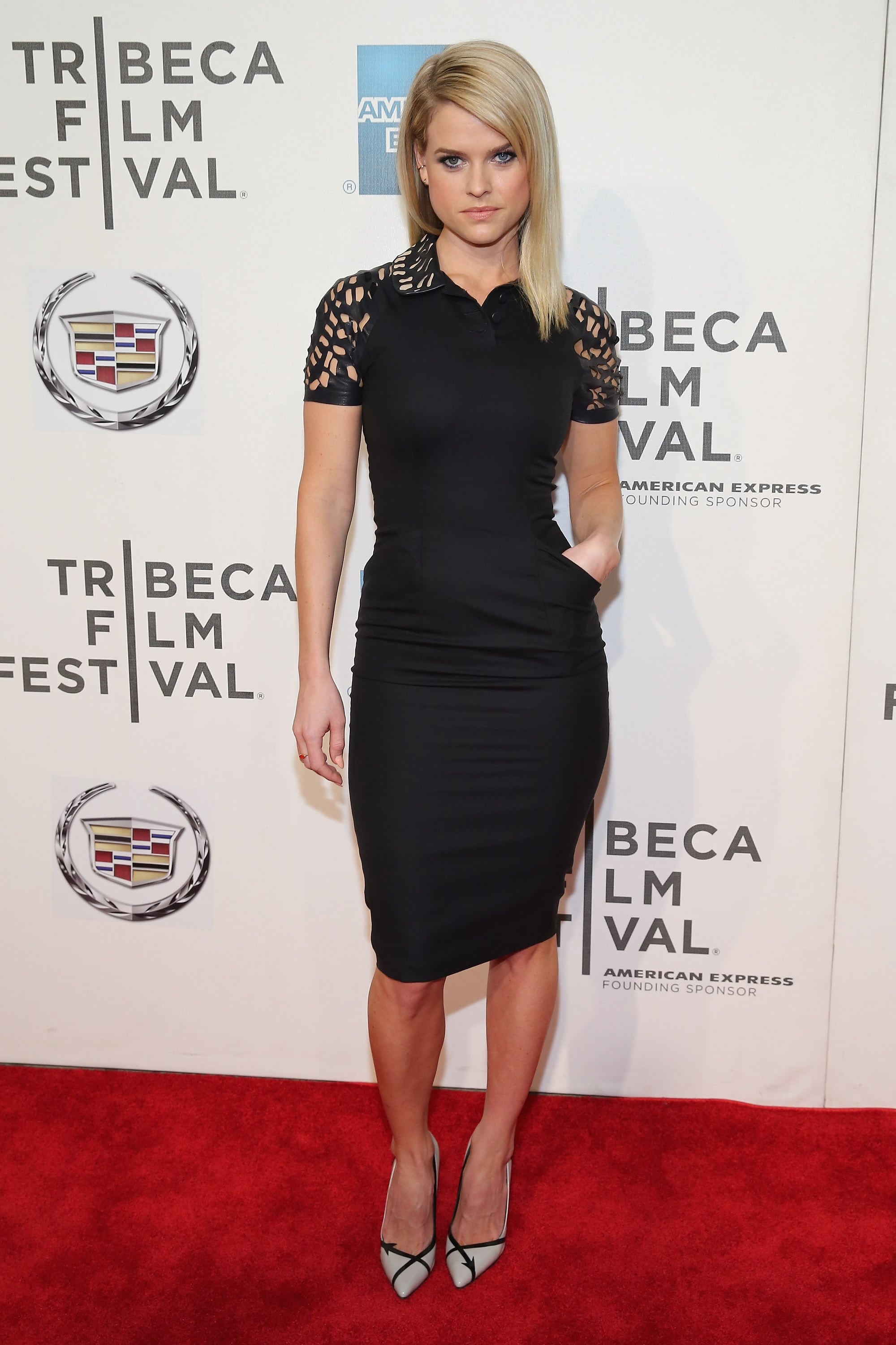 Alice Eve wore a sexy LBD for the Some Velvet Morning ...