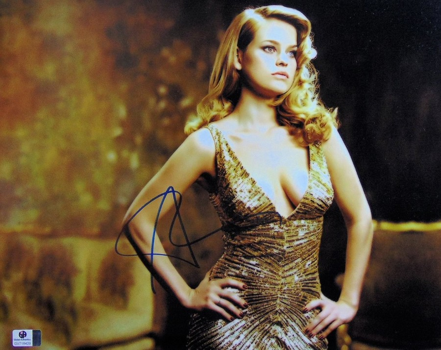 Alice Eve Signed Autographed 11X14 Photo Star Trek Sexy Gold Dress GV718429