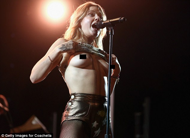 Tove Lo flashes her breasts AGAIN at Coachella weekend two ...