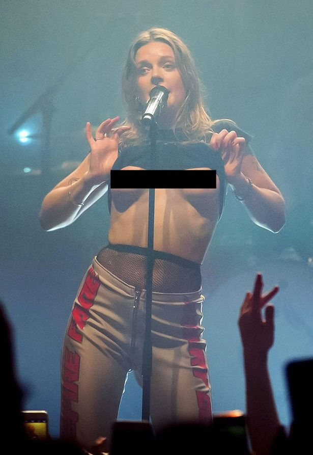 Swedish singer Tove Lo exposes bare boobs in explicit ...