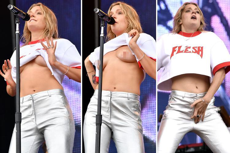 Sexually open' Tove Lo lifts up her top and flashes her ...