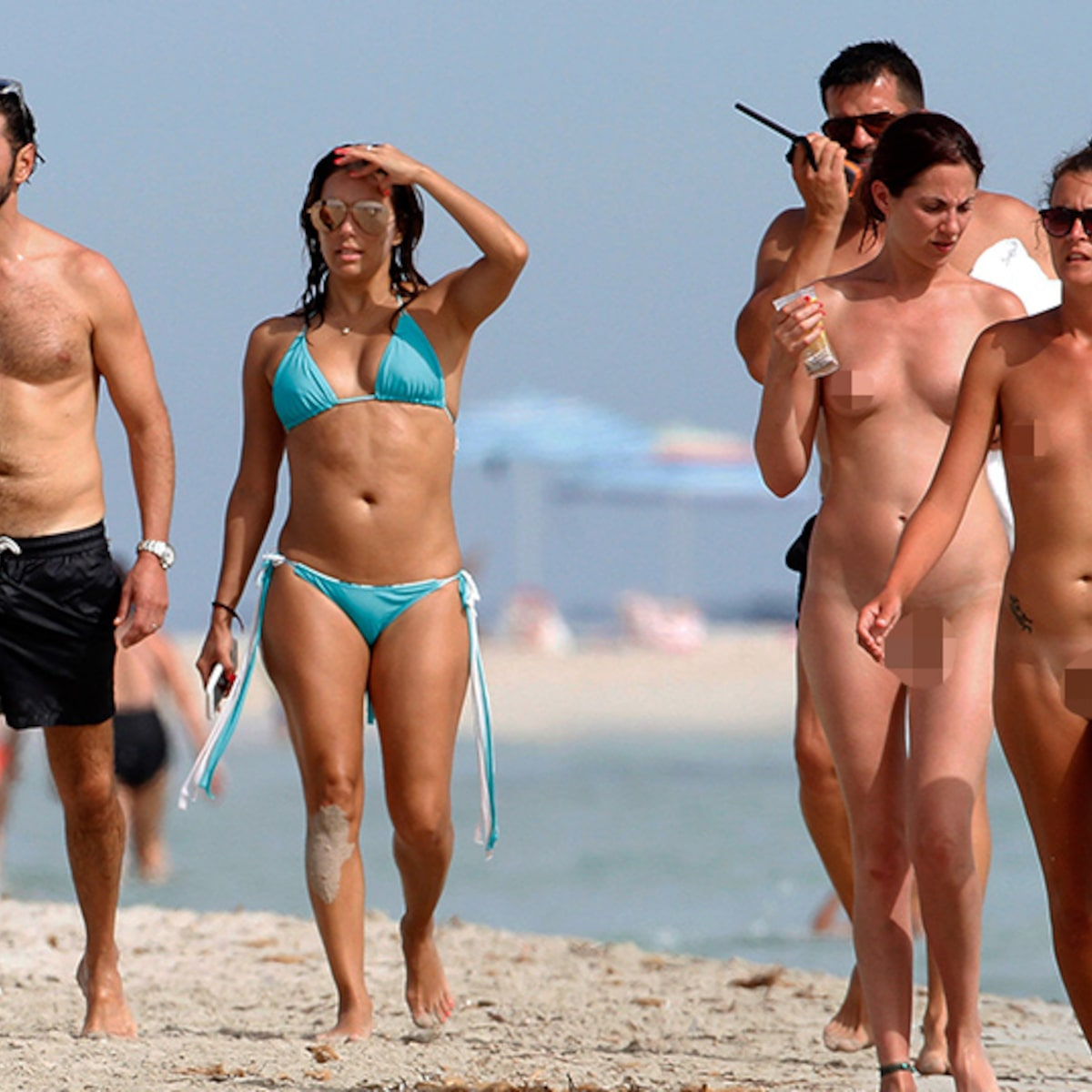 Eva Longoria Missed the Memo on Nude Beaches